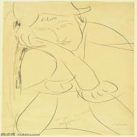 【印刷级】YHR19083740-阿梅代奥莫迪利亚尼Amedeo Modigliani意大利著名画家绘画作品集手稿素描作品高清图片Woman, Head on Hand-47M-3211X5169