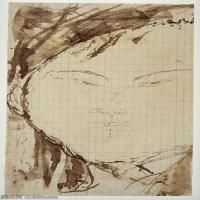 【打印级】YHR19083731-阿梅代奥莫迪利亚尼Amedeo Modigliani意大利著名画家绘画作品集手稿素描作品高清图片Portrait of the Painter Eduardo Gar