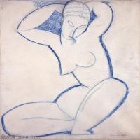 【欣赏级】YHR19083728-阿梅代奥莫迪利亚尼Amedeo Modigliani意大利著名画家绘画作品集手稿素描作品高清图片Caryatid(5)-20M-2328X3053