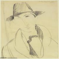 【印刷级】YHR19083741-阿梅代奥莫迪利亚尼Amedeo Modigliani意大利著名画家绘画作品集手稿素描作品高清图片Mario the Musician-62M-3699X5863