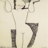 【欣赏级】YHR19083716-阿梅代奥莫迪利亚尼Amedeo Modigliani意大利著名画家绘画作品集手稿素描作品高清图片CARIATIDE HERMAPHRODITE-8M-1290X220