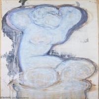 【欣赏级】YHR19083712-阿梅代奥莫迪利亚尼Amedeo Modigliani意大利著名画家绘画作品集手稿素描作品高清图片Caryatid(2)-7M-1136X2401