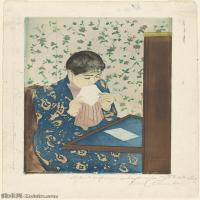 【欣赏级】YHR181348027-19世纪著名美国印象派女画家玛丽卡萨特Mary Cassatt绘画作品集油画作品高清图片-18M-2097X3000