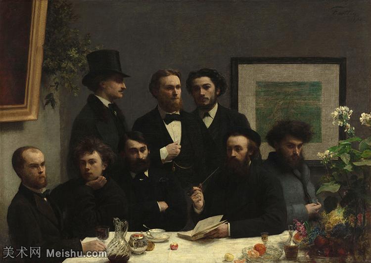 【印刷级】YHR190755114-国画家亨利方丹拉图尔Henri Fantin Latour绘画作品集西方绘画大师拉图
