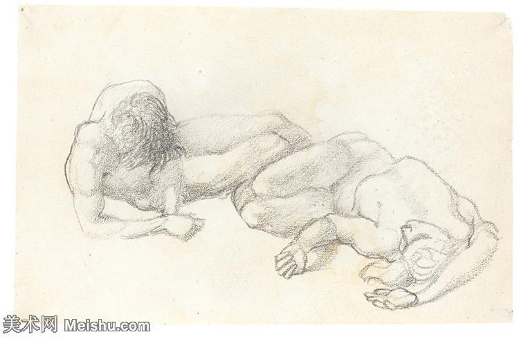 【欣赏级】SMR181321010-英国新拉斐尔前派画家插画家爱德华伯恩琼斯EdwardBurneJones素描速写手稿