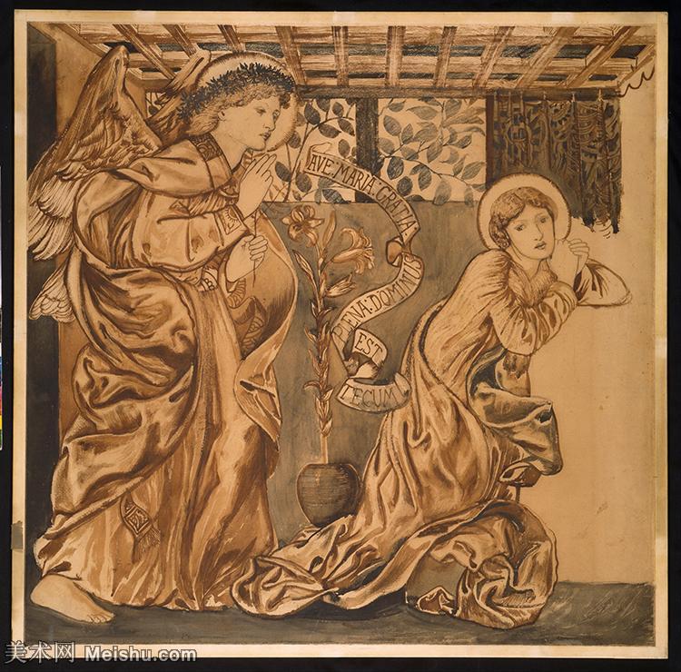 【印刷级】SMR181321083-英国新拉斐尔前派画家插画家爱德华伯恩琼斯EdwardBurneJones素描速写手稿