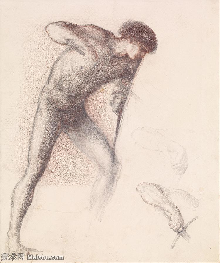【印刷级】SMR181321091-英国新拉斐尔前派画家插画家爱德华伯恩琼斯EdwardBurneJones素描速写手稿