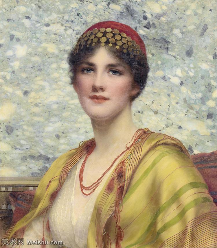 【打印级】YHR18111549-英国古典主义画家画家约翰威廉戈德沃德John William Godward古典人物美