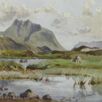 【打印级】YHR181455134-约翰西里尔哈里森John Cyril Harrison英国画家高清绘画作品集-25M-3642X2492