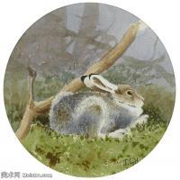 【打印级】YHR181455135-约翰西里尔哈里森John Cyril Harrison英国画家高清绘画作品集-27M-3063X3081