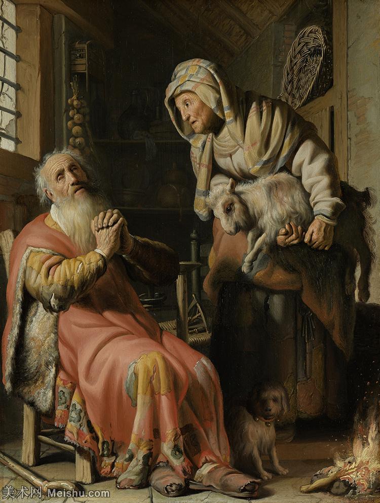 【打印级】YHR131509129-荷兰现实主义画家伦勃朗Rembrandt17世纪最伟大的画家油画作品高清大图肖像画风
