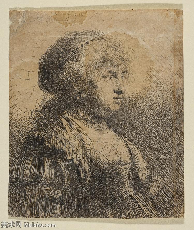 【打印级】YHR131509132-荷兰现实主义画家伦勃朗Rembrandt17世纪最伟大的画家油画作品高清大图肖像画风