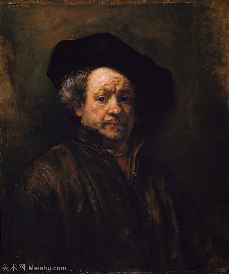 【打印级】YHR131509128-荷兰现实主义画家伦勃朗Rembrandt17世纪最伟大的画家油画作品高清大图肖像画风