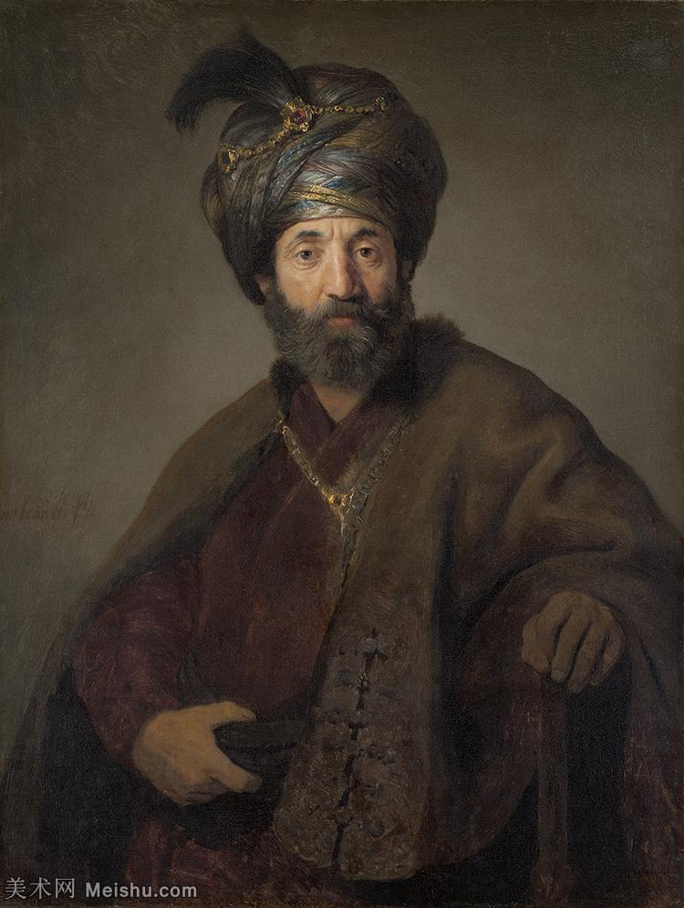 【欣赏级】YHR131509188-荷兰现实主义画家伦勃朗Rembrandt17世纪最伟大的画家油画作品高清大图肖像画风
