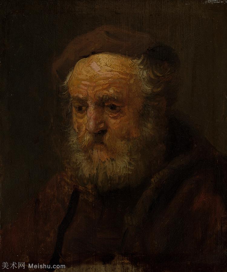 【打印级】YHR131509102-荷兰现实主义画家伦勃朗Rembrandt17世纪最伟大的画家油画作品高清大图肖像画风
