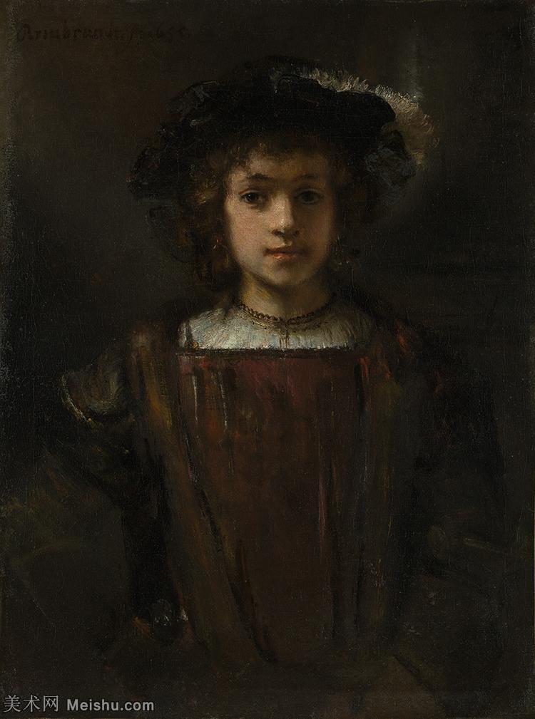 【打印级】YHR131509133-荷兰现实主义画家伦勃朗Rembrandt17世纪最伟大的画家油画作品高清大图肖像画风