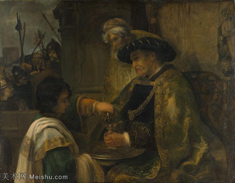 【打印级】YHR131509103-荷兰现实主义画家伦勃朗Rembrandt17世纪最伟大的画家油画作品高清大图肖像画风