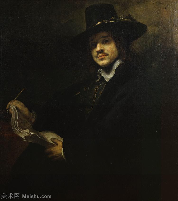 【打印级】YHR131509130-荷兰现实主义画家伦勃朗Rembrandt17世纪最伟大的画家油画作品高清大图肖像画风