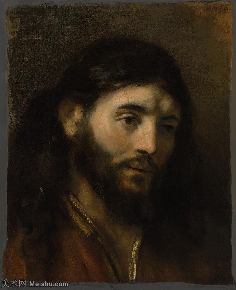 【打印级】YHR131509127-荷兰现实主义画家伦勃朗Rembrandt17世纪最伟大的画家油画作品高清大图肖像画风
