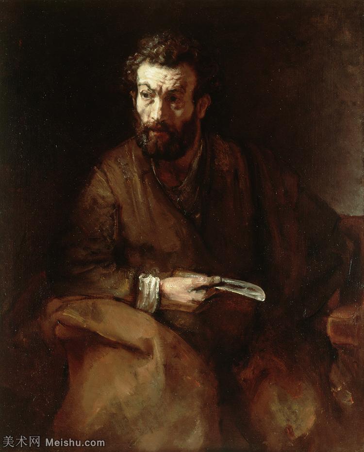 【打印级】YHR131509104-荷兰现实主义画家伦勃朗Rembrandt17世纪最伟大的画家油画作品高清大图肖像画风