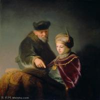 【打印级】YHR131509069-荷兰现实主义画家伦勃朗Rembrandt17世纪最伟大的画家油画作品高清大图肖像画风景画风俗画宗教画-39M-3401X4057
