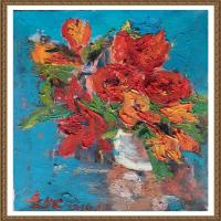 支紅油畫作品展覽(14)