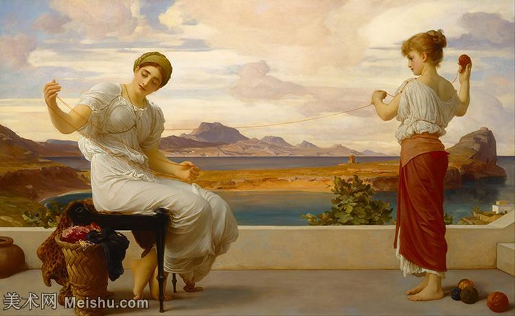 【打印级】YHR14110306-弗雷德里克莱顿洛德莱顿Frederic_Leighton油画作品高清大图古典油画作品高