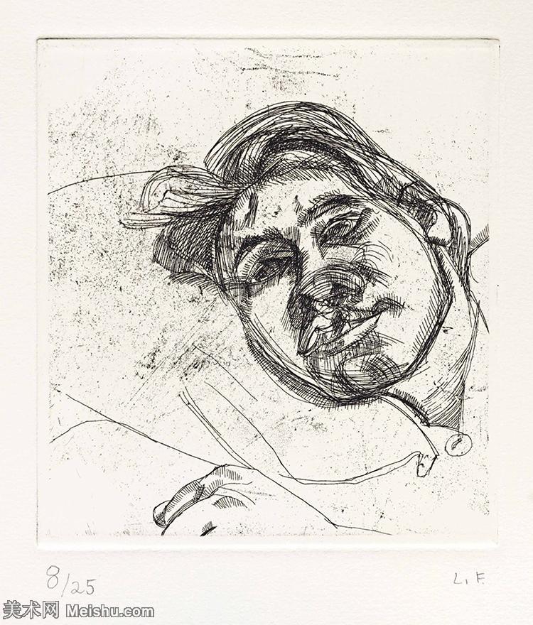 【打印级】YHR141059029--英国表现派绘画大师卢西安弗洛伊德Lucian Freud油画作品高清大图最贵画家卢