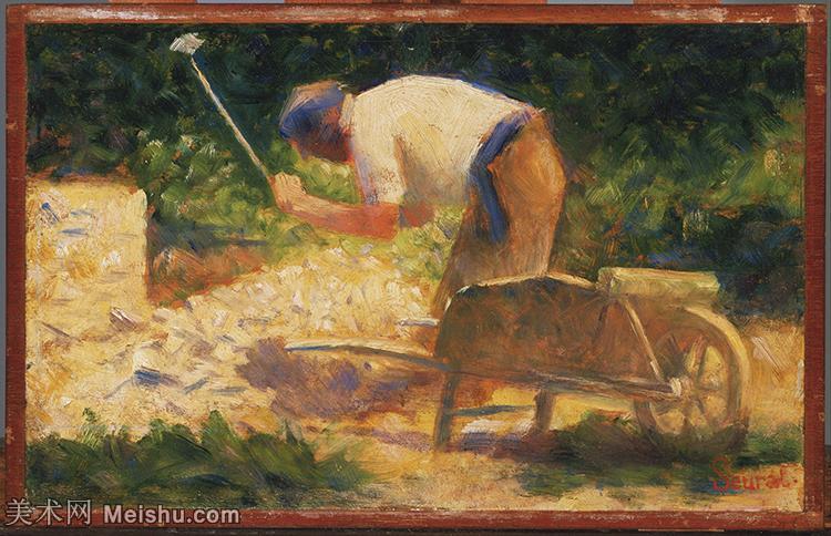 【打印级】YHR14114733-法国新印象主义点彩派画家乔治修拉Georges Seurat油画作品高清大图-29M-