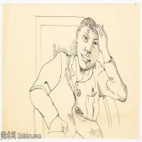 【打印级】YHR141059011--英国表现派绘画大师卢西安弗洛伊德Lucian Freud油画作品高清大图最贵画家卢西安弗洛伊德绘画作品高清图库-27M-4000X2433