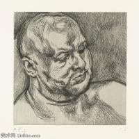【打印级】YHR141059014--英国表现派绘画大师卢西安弗洛伊德Lucian Freud油画作品高清大图最贵画家卢西安弗洛伊德绘画作品高清图库-26M-2951X3186