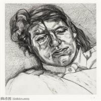 【打印级】YHR141059039--英国表现派绘画大师卢西安弗洛伊德Lucian Freud油画作品高清大图最贵画家卢西安弗洛伊德绘画作品高清图库-24M-2642X3202