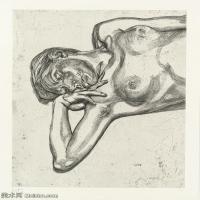 【打印级】YHR141059048--英国表现派绘画大师卢西安弗洛伊德Lucian Freud油画作品高清大图最贵画家卢西安弗洛伊德绘画作品高清图库-23M-2574X3200