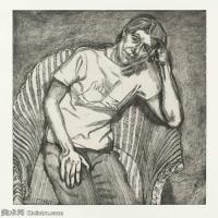 【打印级】YHR141059023--英国表现派绘画大师卢西安弗洛伊德Lucian Freud油画作品高清大图最贵画家卢西安弗洛伊德绘画作品高清图库-25M-2809X3200