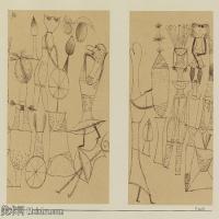 【打印级】YHR141112004-印象派画家保罗克利Paul Klee油画作品高清图片野兽派油画大师作品高清大图-34M-4000X2979