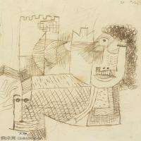 【欣赏级】YHR141112106-印象派画家保罗克利Paul Klee油画作品高清图片野兽派油画大师作品高清大图-7M-1387X1892
