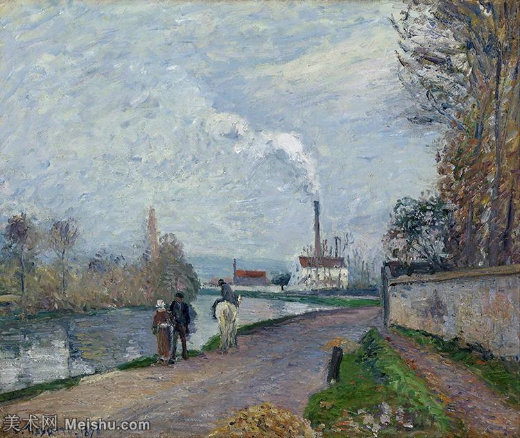 【印刷级】YHR181141268-法国印象派大师卡米耶毕沙罗Camille Pissarro油画作品高清图片风景油画高