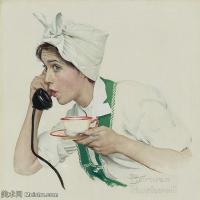 【印刷级】ZSHR191111225-诺曼洛克威尔Norman Rockwell美国20世纪早期画家插画作品集插画作品高清图片-45M-4000X3940