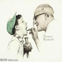 【打印级】ZSHR191111182-诺曼洛克威尔Norman Rockwell美国20世纪早期画家插画作品集插画作品高清图片-24M-3201X2646