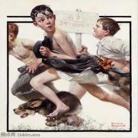 【打印级】ZSHR191111172-诺曼洛克威尔Norman Rockwell美国20世纪早期画家插画作品集插画作品高清图片-22M-2643X2985