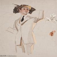 【欣赏级】ZSHR18143321-美国插画家约瑟夫克里斯蒂安Joseph Christian插画作品集油画作品高清图片-17M-2040X3000