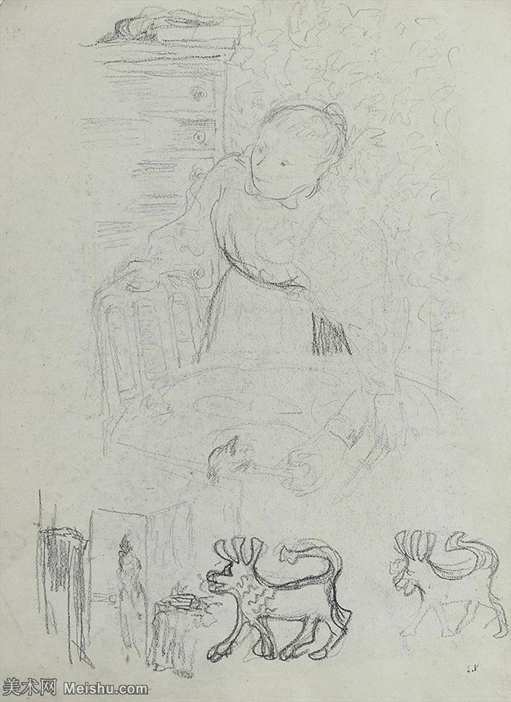 【打印级】SMR181514015-维亚尔爱德华Edouard Vuillard法国纳比派代表画家高清那比派绘画作品素描