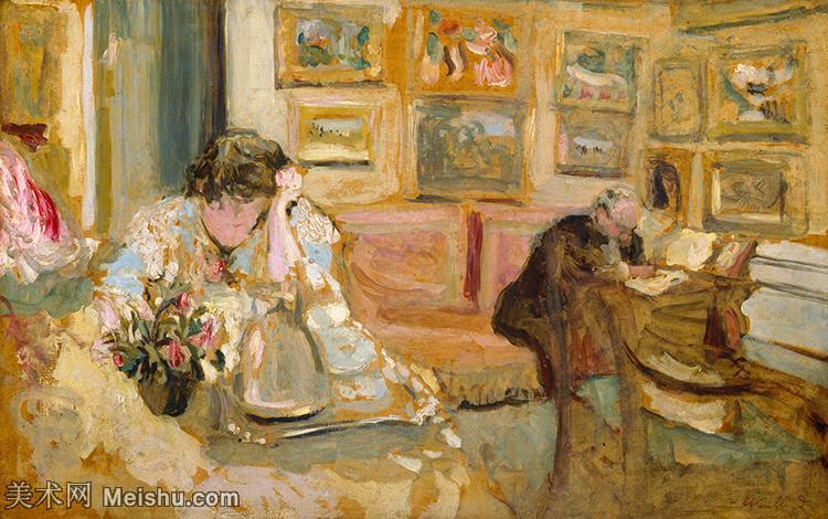 YHR181516006-维亚尔爱德华Edouard Vuillard法国纳比派代表画家高清那比派绘画作品集-6M-18