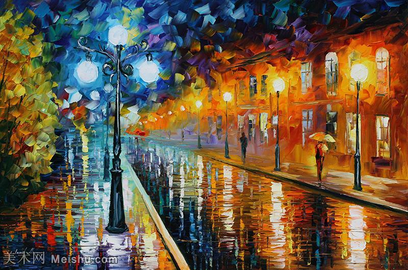 【打印级】YHR190949171-李奥尼德阿夫列莫夫Leonid Afremov白俄罗斯现代印象派艺术家绘画作品集油画