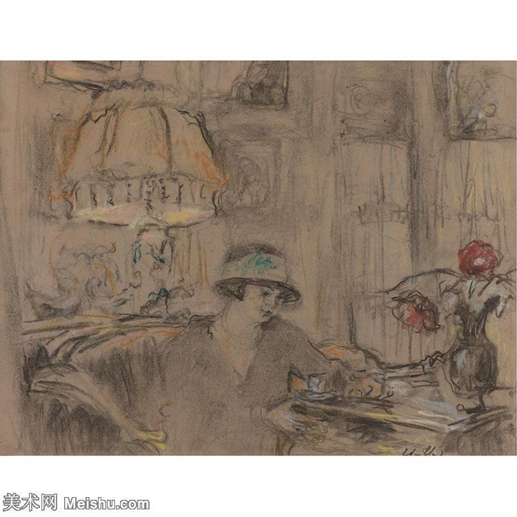 YHR181516051-维亚尔爱德华Edouard Vuillard法国纳比派代表画家高清那比派绘画作品集-11M-2