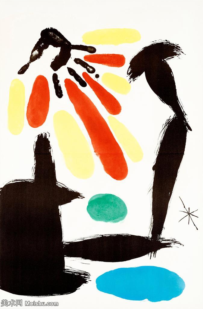 【欣赏级】YHR181417052-二十世纪绘画大师西班牙超现实主义画家米罗Joan Miro绘画作品高清图片抽象画作品