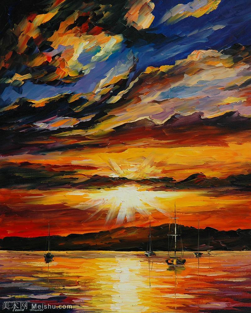【欣赏级】YHR190949012-李奥尼德阿夫列莫夫Leonid Afremov白俄罗斯现代印象派艺术家绘画作品集油画