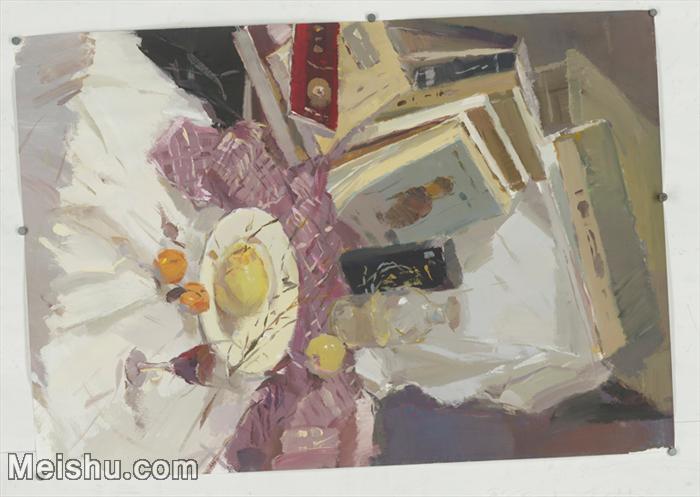 【超顶级】SF-10121642-水粉静物美院优秀试卷优秀考生绘画作品艺考高分题库高清图片-191M-9712X6900