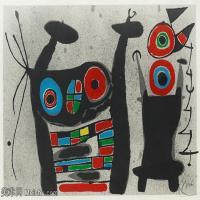 【打印级】YHR181417144-二十世纪绘画大师西班牙超现实主义画家米罗Joan Miro绘画作品高清图片抽象画作品集-Ur Le lézard aux plumes d'or.-21M-323