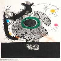 【欣赏级】YHR181417062-二十世纪绘画大师西班牙超现实主义画家米罗Joan Miro绘画作品高清图片抽象画作品集-POLYPHèME (1968)-17M-2042X3000